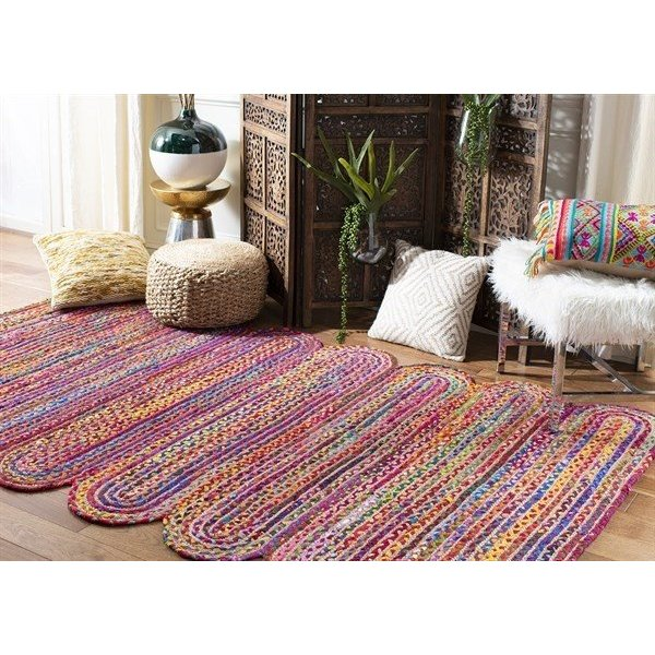 Red, Yellow, Blue (Q) Bohemian Area-Rugs