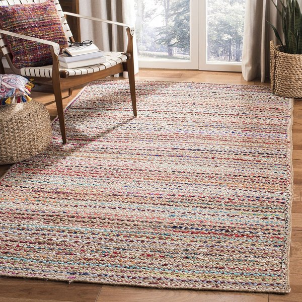 Natural, Red (A) Natural Fiber Area-Rugs