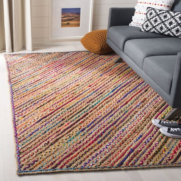 Natural, Red (B) Bohemian Area-Rugs