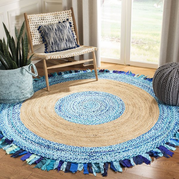 Turquoise, Natural (K) Bohemian Area-Rugs