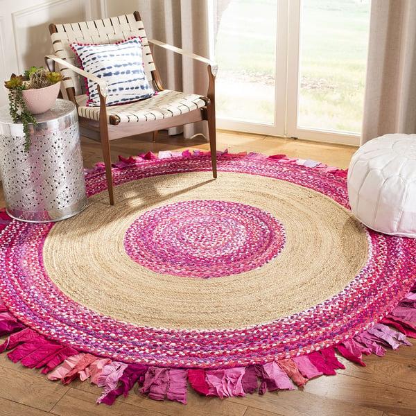 Pink, Natural (U) Bohemian Area-Rugs