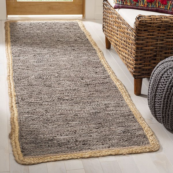 Light Grey, Natural (G) Contemporary / Modern Area Rug