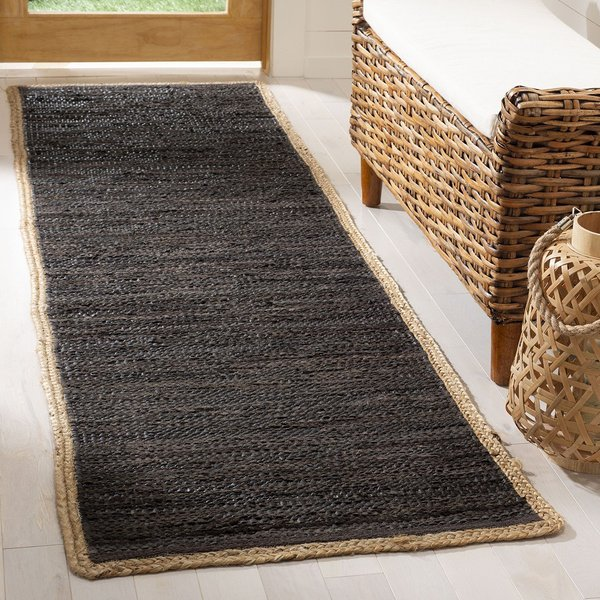 Chocolate, Natural (H) Contemporary / Modern Area Rug