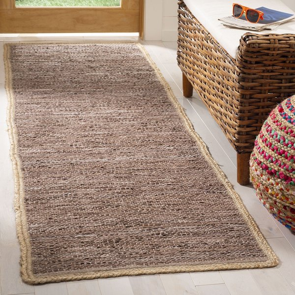 Brown, Natural (T) Contemporary / Modern Area Rug