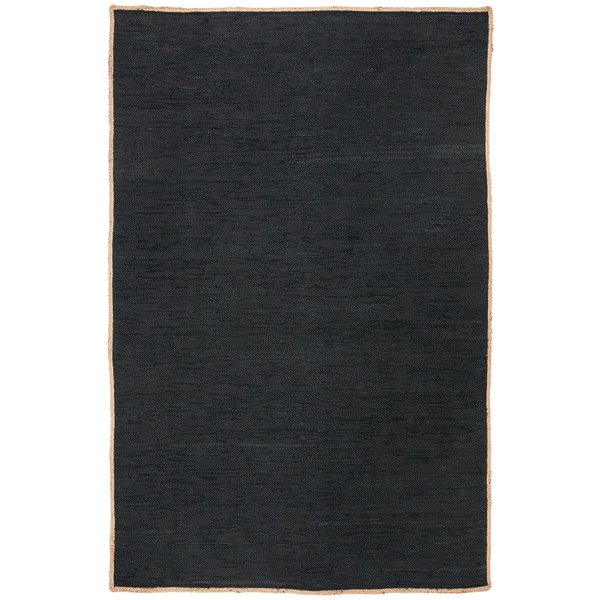 Black, Natural (Z) Contemporary / Modern Area-Rugs