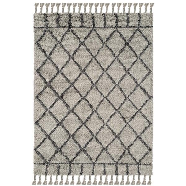 Grey, Dark Grey (C) Shag Area Rug