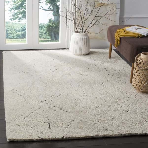 Ivory, Grey (A) Moroccan Area-Rugs