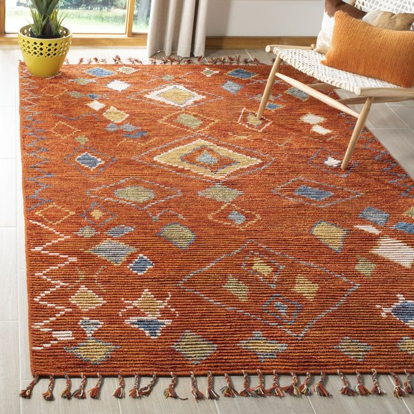 Red, Gold (A) Bohemian Area Rug