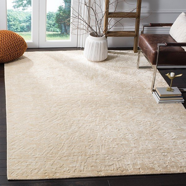 Beige (A) Solid Area-Rugs