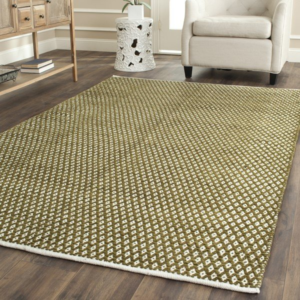 Olive (B) Contemporary / Modern Area Rug