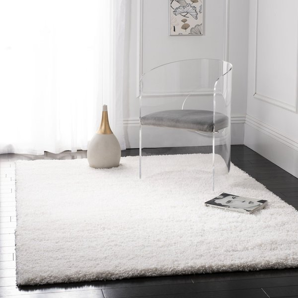 White (1010) Solid Area Rug
