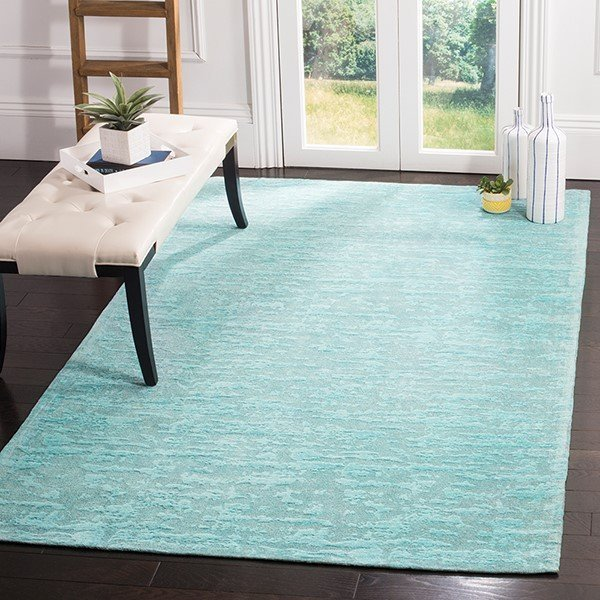 Blue, Turquoise (K) Abstract Area Rug