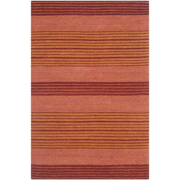 Rust (A) Striped Area Rug