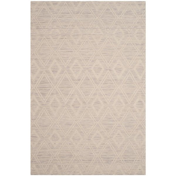 Silver, Ivory (A) Contemporary / Modern Area-Rugs
