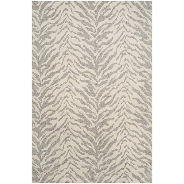 Light Grey, Ivory (A) Animals / Animal Skins Area Rug