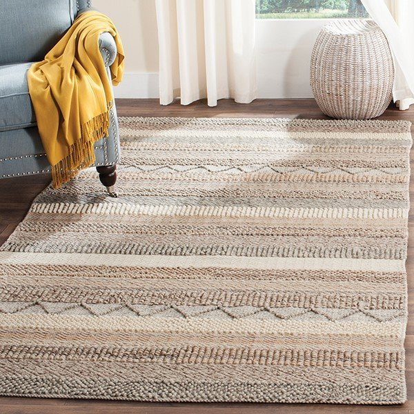 Beige (A) Moroccan Area-Rugs