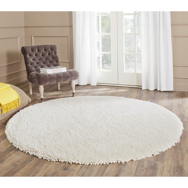 Ivory (A) Solid Area Rug