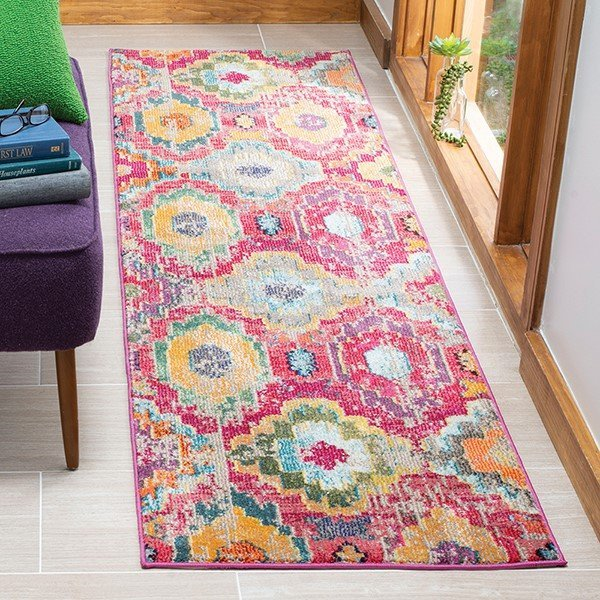 Red, Blue (Q) Bohemian Area Rug