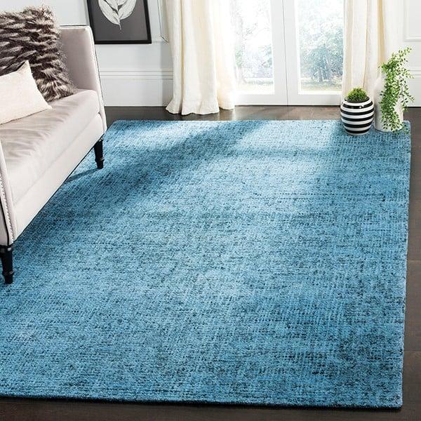 Blue, Black (A) Contemporary / Modern Area Rug