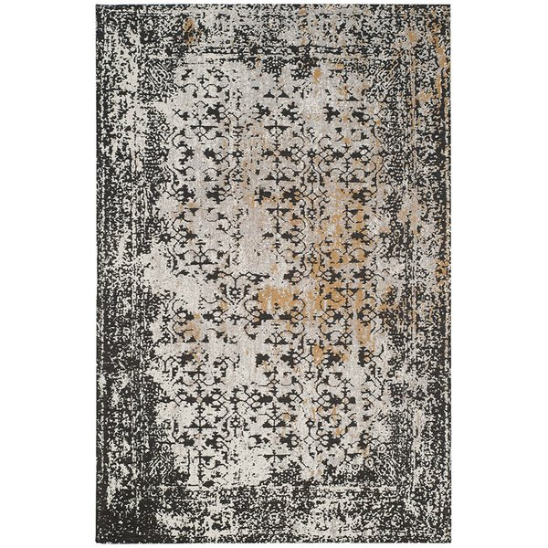Black, Silver (A) Vintage / Overdyed Area Rug