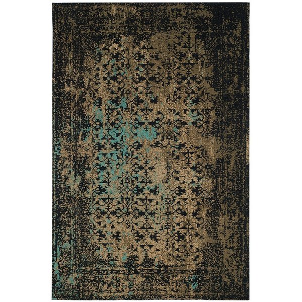 Black, Olive (B) Vintage / Overdyed Area-Rugs