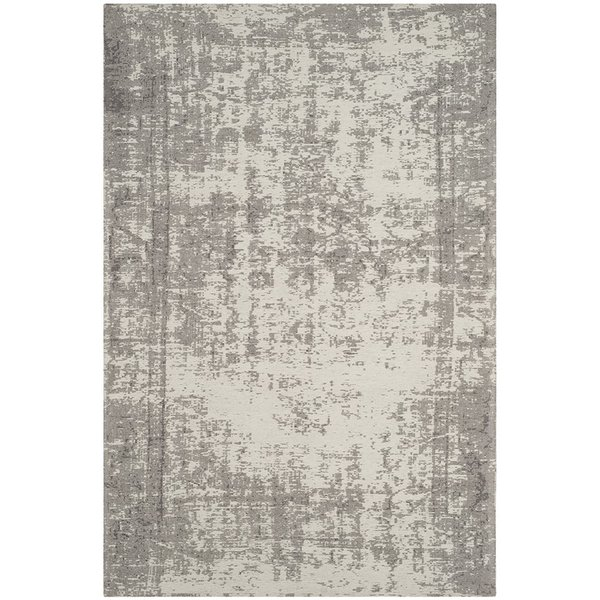Silver, Ivory (B) Vintage / Overdyed Area Rug