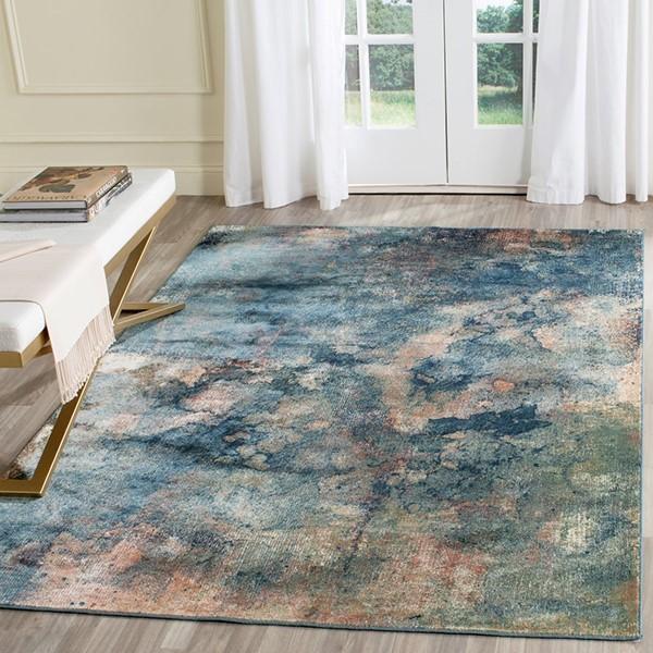 Light Blue (2220) Contemporary / Modern Area Rug