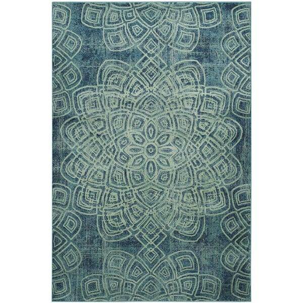 Light Blue (2220) Vintage / Overdyed Area Rug