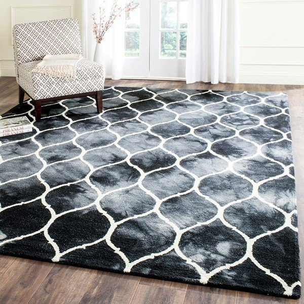 Graphite, Ivory (J) Vintage / Overdyed Area Rug