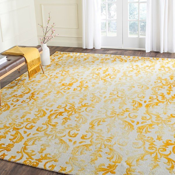 Ivory, Gold (A) Traditional / Oriental Area Rug