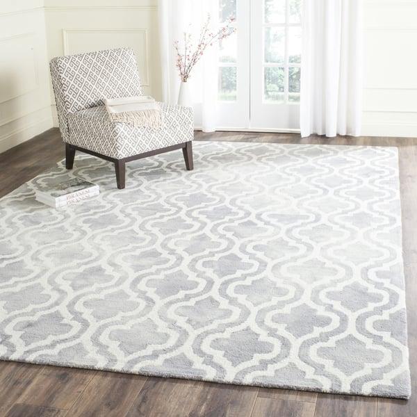 Grey, Ivory (C) Contemporary / Modern Area Rug