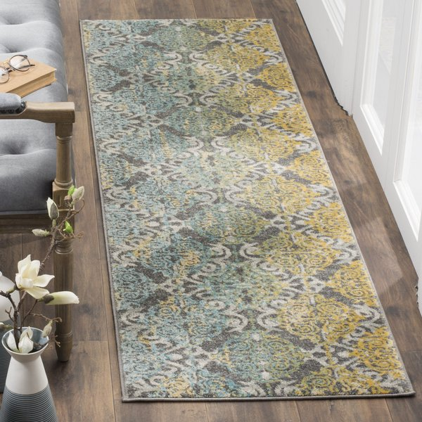Grey, Ivory (D) Traditional / Oriental Area Rug