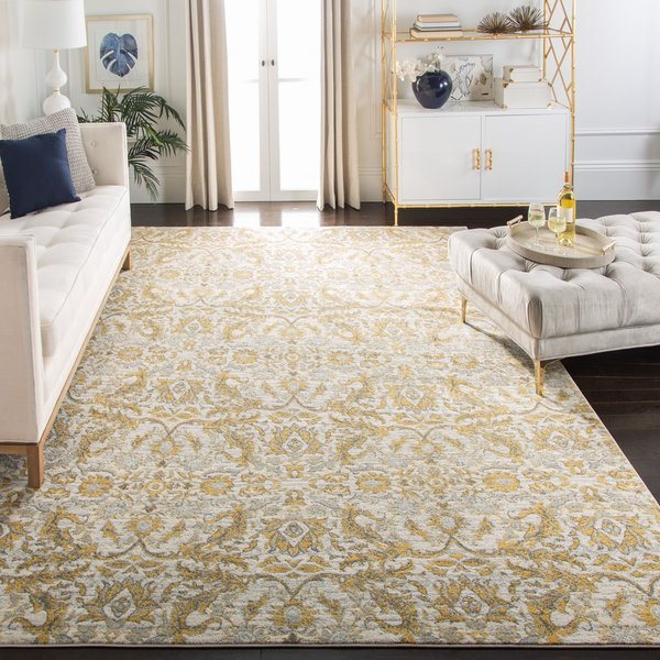 Ivory, Gold (S) Traditional / Oriental Area-Rugs
