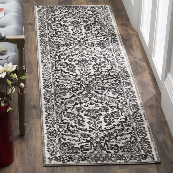 Ivory, Grey (D) Traditional / Oriental Area Rug