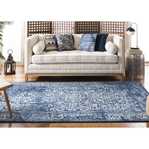 Navy, Ivory (A) Vintage / Overdyed Area-Rugs