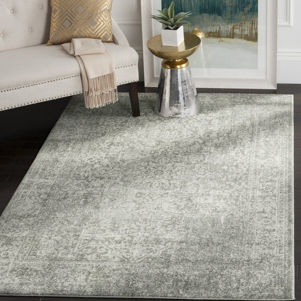 Silver, Ivory (S) Vintage / Overdyed Area Rug