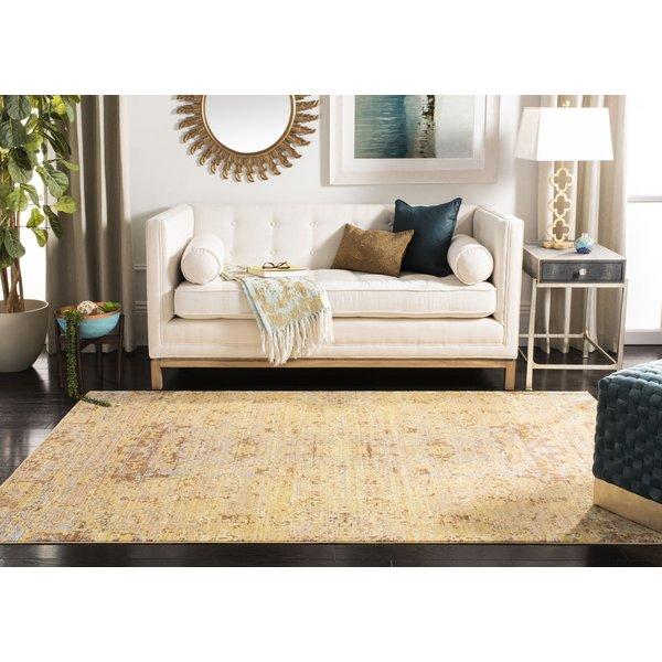 Gold (C) Vintage / Overdyed Area Rug