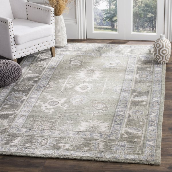 Slate, Silver (D) Traditional / Oriental Area Rug