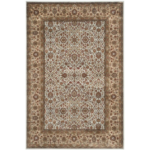 Light Blue, Ivory (L) Traditional / Oriental Area-Rugs