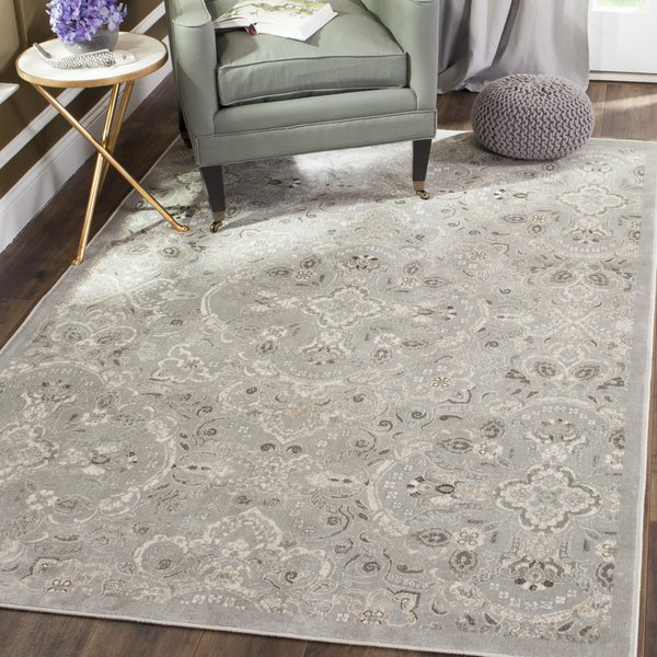 Silver, Beige (Q) Traditional / Oriental Area Rug
