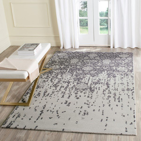 Silver, Grey (H) Vintage / Overdyed Area-Rugs