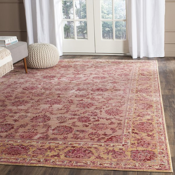 Pink (H) Traditional / Oriental Area Rug
