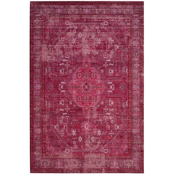 Red (R) Traditional / Oriental Area Rug