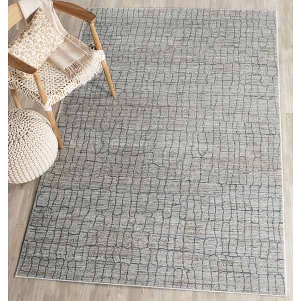 Grey (C) Abstract Area Rug