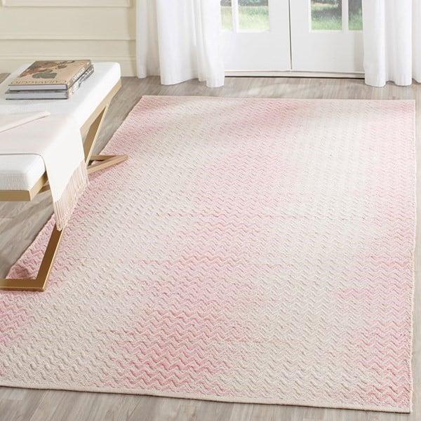 Light Pink, Ivory (E) Contemporary / Modern Area Rug