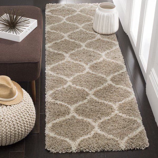 Beige, Ivory (S) Contemporary / Modern Area Rug