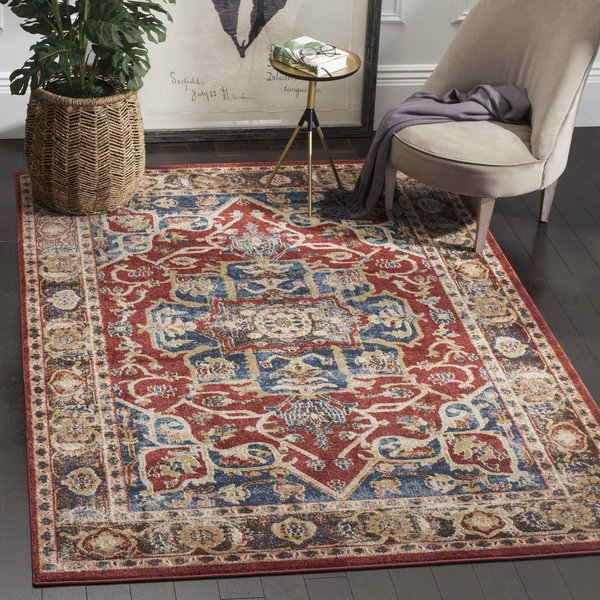 Red, Royal (R) Traditional / Oriental Area Rug