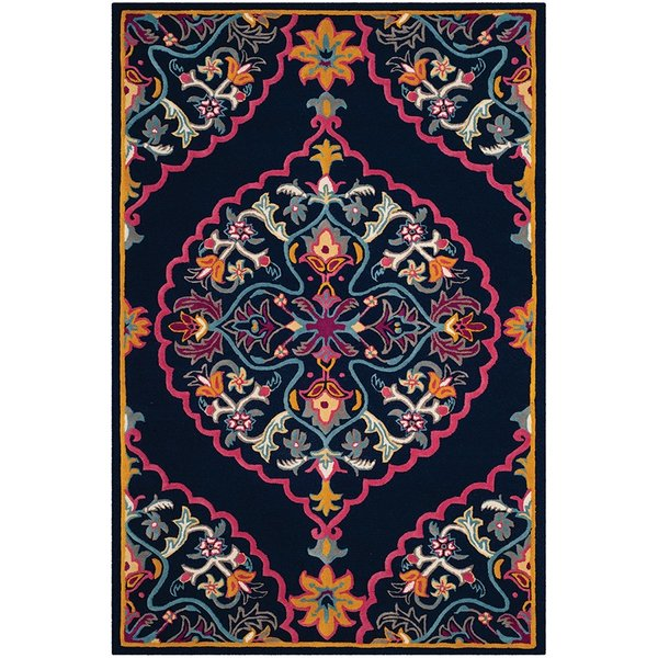 Navy (C) Traditional / Oriental Area-Rugs