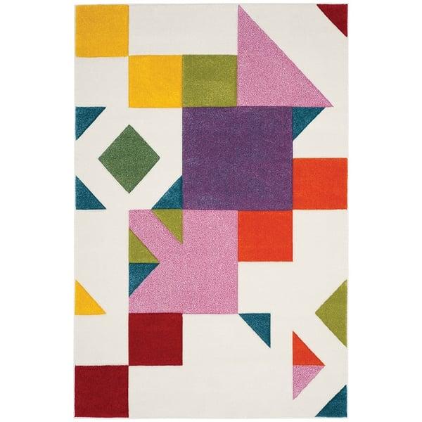 Ivory, Rose (A) Contemporary / Modern Area Rug