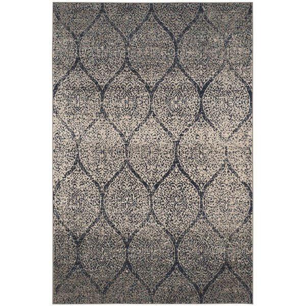 Navy, Silver (G) Vintage / Overdyed Area Rug